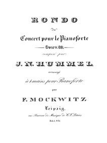 Piano Concerto No.3 in B minor, Op.89 : ... Volume Op.89 by Hummel, Johann Nepomuk