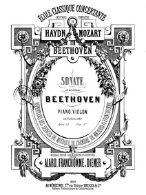 Violin Sonata No.4, Op.23 : Piano Score Volume Op.23 by Beethoven, Ludwig van