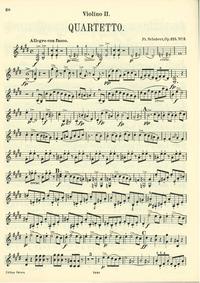 String Quartet No.11, D.353 : Violin 2 Volume D.353 (Op.125 No.2) by Schubert, Franz
