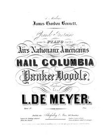 Grande Fantaisie sur les Airs Nationaux ... Volume Op.52 by Meyer, Leopold de
