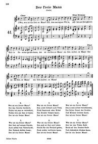 Der freie Mann (Wer ist ein freier MannS... Volume WoO 117 by Beethoven, Ludwig van
