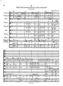 Mein Gott, warum hast du mich verlassen?... Volume GWV 1118/12a by Graupner, Christoph