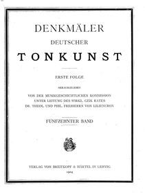 Montezuma, GraunWV B:I:29 : Preface Volume GraunWV B:I:29 by Graun, Karl Heinrich