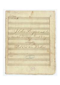 Salve Regina : Complete score by Bellini, Vincenzo