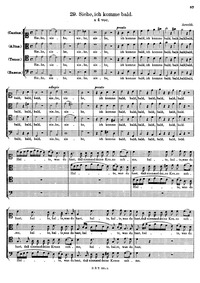 Siehe, ich komme bald : Complete Score by Arnoldi