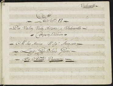 Quartet for Guitar and Strings No.12 : C... by Paganini, Niccolò