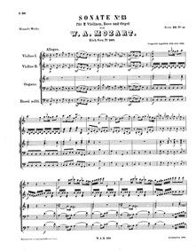 Church Sonata (Church Sonata No.14Church... Volume K.328/317c by Mozart, Wolfgang Amadeus