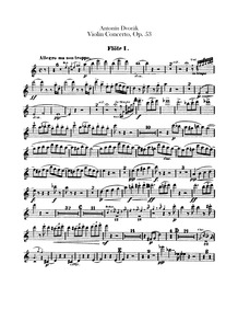 Violin Concerto (Koncert pro housle a or... Volume 1st version, B.96 2nd version, Opus 53, B.108 by Dvořák, Antonín