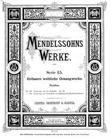 An die Künstler (Festgesang an die Künst... Volume Op.68 ; MWV D 6 by Mendelssohn, Felix
