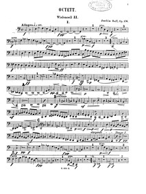 String Octet (Octett für 4 Violinen, 2 B... Volume Op.176 by Raff, Joachim