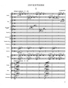 Inventions : Complete Orchestral Score Volume H.234 by Martinů, Bohuslav