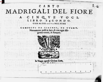 Madrigali del Fiore : Complete parts by Wert, Giaches de