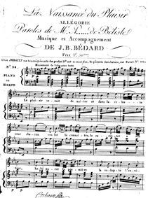 La Naissance du Plaisir (Allégorie) : Co... by Bédard, Jean-Baptiste