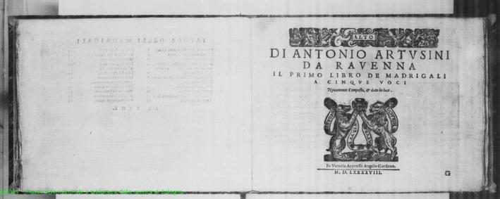 Madrigals, Book 1 : Alto by Artusini, Antonio