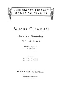 Piano Sonata, Op.2 No.1 : Complete score... Volume Op.2. No.1 by Clementi, Muzio