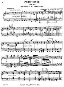 Paraphrase sur des Mélodies de Schubert ... by Satter, Gustav