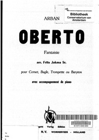 Oberto Fantaisie : Piano Score and Corne... by Arban, Jean-Baptiste