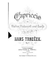 Capriccio, Op.2 : Score, Harp part Volume Op.2 by Trneček, Hanuš