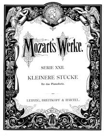 Minuet (Menuett) : Complete Score Volume K.1 ; K⁶.1e by Mozart, Wolfgang Amadeus