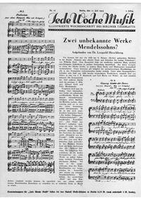 Was wir bringen, MWV M 6 : Article Volume List of works by Felix Mendelssohn|MWV M 6 by Mendelssohn, Felix