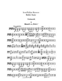 Rameau Ballet Suite : Cellos by Mottl, Felix