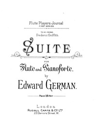 Suite : Flute and Piano Score by German, Edward