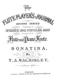 Oboe Sonatina No.1 : Piano Score by Walmisley, Thomas Attwood