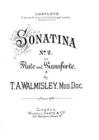 Oboe Sonatina No.2 : Oboe (Flute) Part by Walmisley, Thomas Attwood