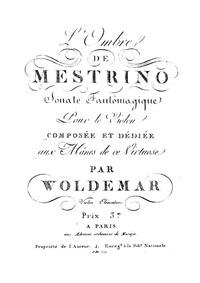 Fantomagic Sonatas : L'Ombre de Mestrino by Woldemar, Michel