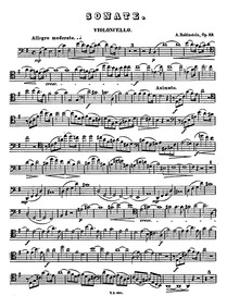 Cello Sonata No.2 in G major, Op.39 : Ce... Volume Op.39 by Rubinstein, Anton