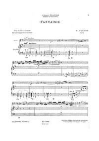 Fantaisie for Viola and Piano, Op.18 : P... Volume Op.18 by Fleury, Hélène