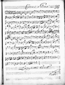 Harpsichord Concerto in D major : Horn 1 by Jommelli, Niccolò