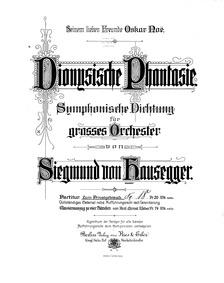Dionysische Phantasie : Complete Score by Hausegger, Siegmund von
