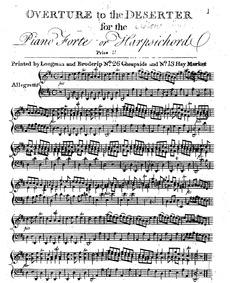 Le déserteur (Drame en prose mêlée de mu... by Monsigny, Pierre-Alexandre