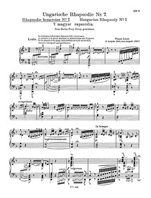 Hungarian Rhapsody No.7 (Lento) : Comple... Volume S.244/7 ; LW.A132/7 by Liszt, Franz