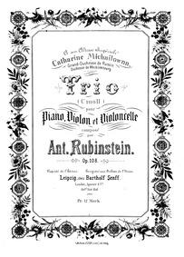 Piano Trio No.5 (Trio in C minor for Vio... Volume Op.108 by Rubinstein, Anton