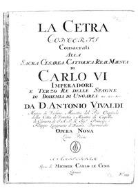 La Cetra, Op.9 : Complete Parts Volume Op.9 by Vivaldi, antonio