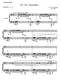 Cirandas, W220 : 7. Xô, xô, passarinho Volume W220 by Villa-Lobos, Heitor