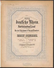 Der deutsche Rhein, WoO 1 : Complete Sco... Volume WoO 1 by Schumann, Robert