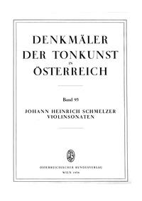 Violin Sonatas : 6 Sonatae unarum fidium by Schmelzer, Johann Heinrich