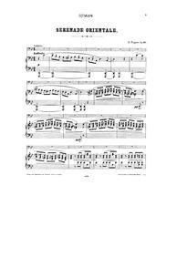Serenade Orientale, Op.18 : Piano score Volume Op.18 by Popper, David