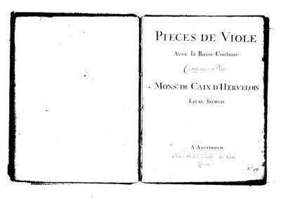 Pièces de viole : Viola da gamba by Caix d'Hervelois, Louis de