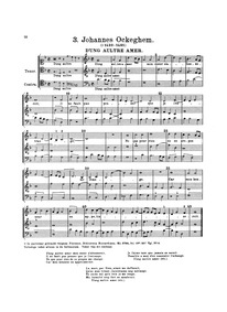 D'ung aultre amer : Complete score by Ockeghem, Johannes