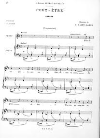 Peut-être : Complete Score by Saint-Saëns, Camille