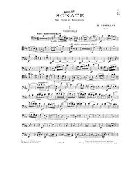Cello Sonata, Op.46 : Cello Part Volume Op.46 by Destenay, Edouard