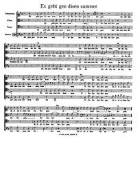 Es geht gen disen summer : Complete scor... by Bruck, Arnold von