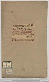 Imitation des caractères de la danse : C... by Pisendel, Johann Georg