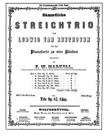 Trio in C major, Op.87 : Complete Score Volume Op.87 by Beethoven, Ludwig van