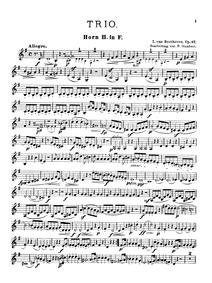 Trio in C major, Op.87 : Horn 2 Volume Op.87 by Beethoven, Ludwig van