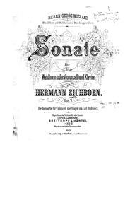 Horn Sonata, Op.7 : Piano Score Volume Op.7 by Eichborn, Hermann Ludwig